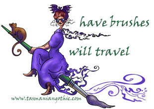 witch on paintbrush - have brushes, will travel