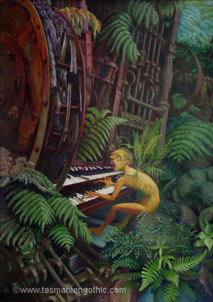 organist in the forest